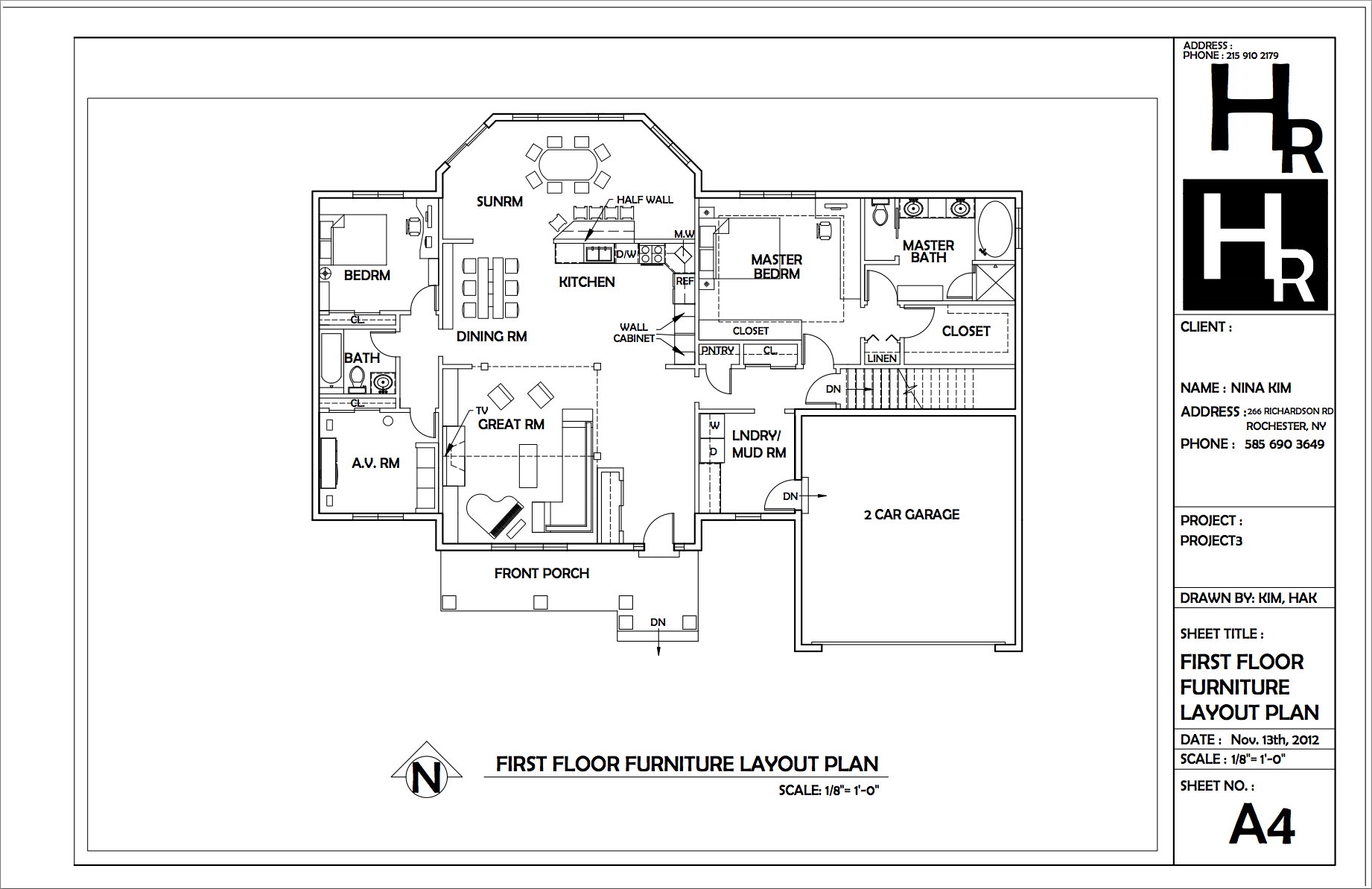 Furniture Layout Plan In Autocad