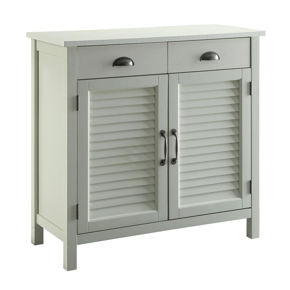 Usl Olivia White Accent Cabinet 2 Shutter Doors And 2 Drawers In 2020 Shutter Doors Stylish Cabinet Entryway Storage Cabinet