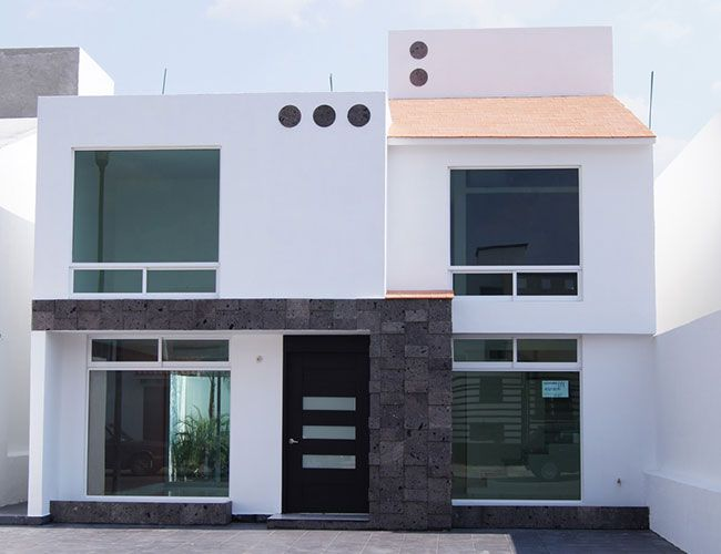 Fachadas de casas chiquitas de dos plantas fachadas - Casas de dos plantas sencillas ...