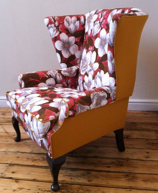 Reloved Vintage Wing Back Arm Chair | Arms, Postal code and Upholstery