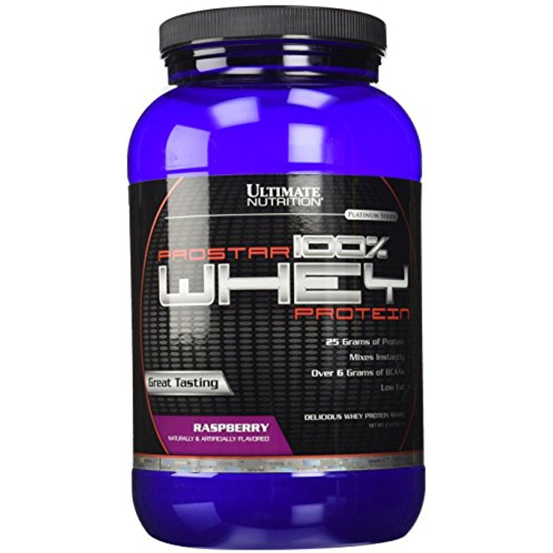 Ultimate Nutrition Prostar 100 Whey Protein, Raspberry, 2