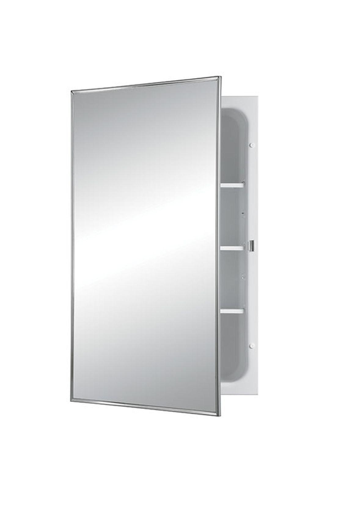 Jensen 468bcx Stainless Medicine Cabinet Frame Medicine Cabinet Steel Shelf Stainless Steel Frame