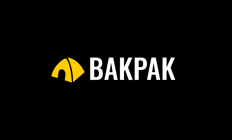 Bakpak Is Unique Business Name Based On Word Backpack Suitable For A Company Related To Travel And Outdoors Activities