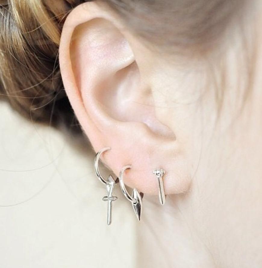 Triangle Hoop Earrings Wendy Nichol fine jewelry designer Barneys