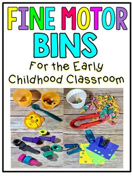 Fine Motor Bins for the Early Childhood Classroom! This unit includes 36 bin ideas with picture cards to be attached to the bins. This set also includes cutting and tracing printables along with coloring sheets. $