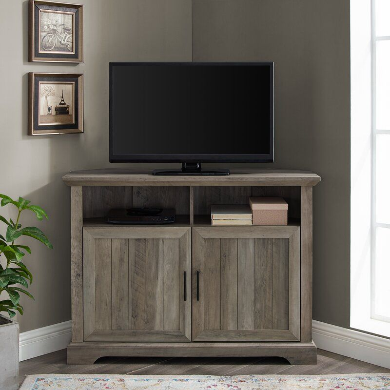Tasoula Corner Tv Stand For Tvs Up To 48 Inches Reviews Joss Main Corner Tv Stand Living Room Tv Stand Tv Stand Tv stand 48 inches wide