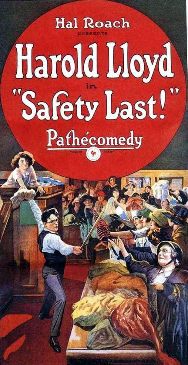 Harold Lloyd in Safety Last! 1923 Harold lloyd, Movie