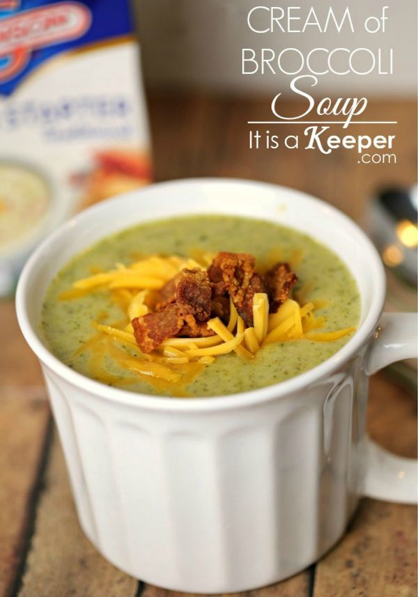 Looking for a recipe to take away the chill from a blustery winter day? This delectable Cream of Broccoli soup will warm you right up!