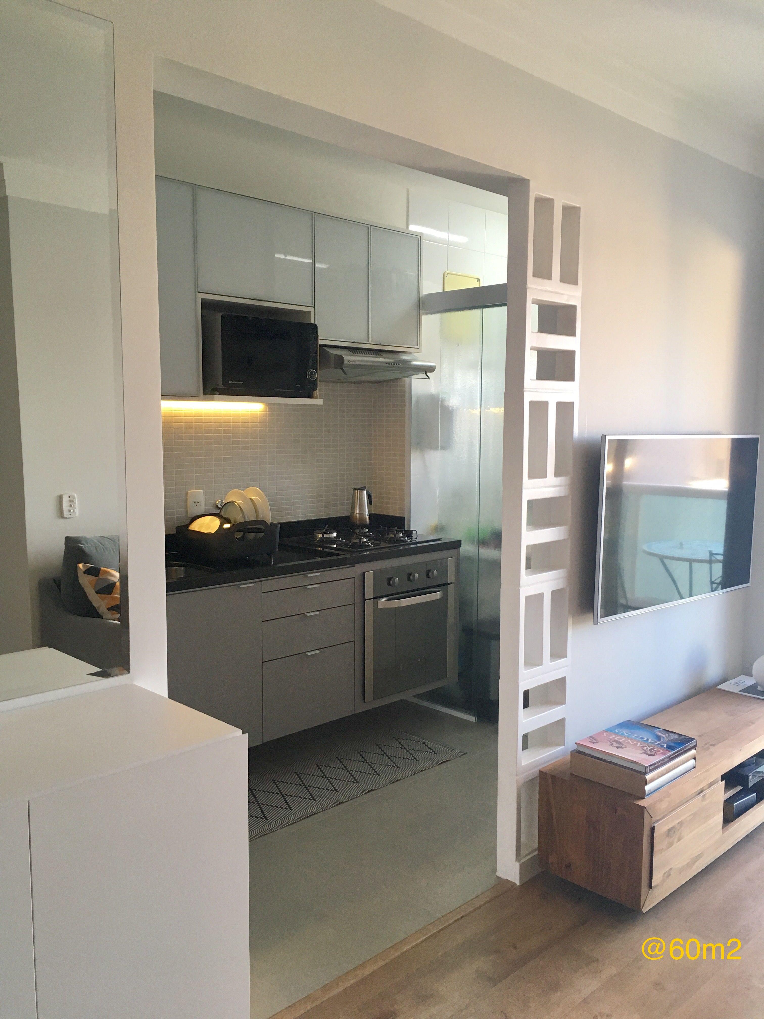 Cozinha Pequena Tipo Corredor Integrada Com A Sala Marcenaria