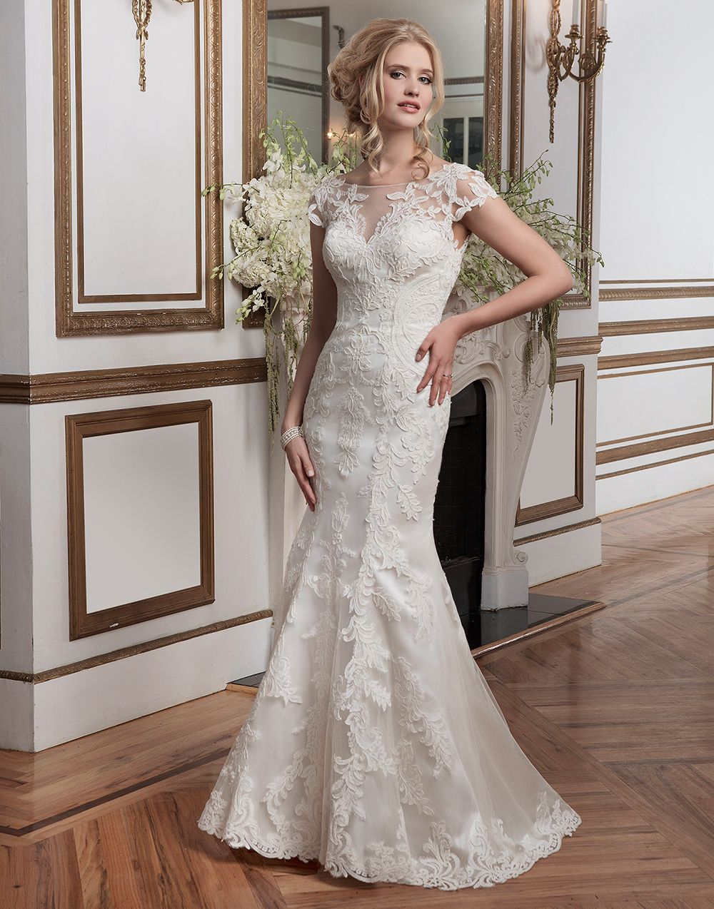 Justin alexander wedding dresses style embroidered lace and
