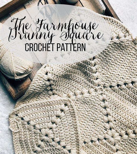 PATTERN: The Farmhouse Square Easy Crochet Granny Square | Crochet ...