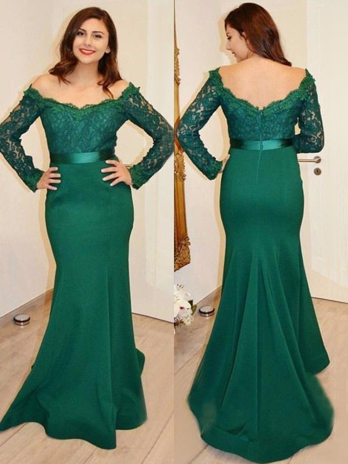Long Sleeved Trumpet Formal Occasion Dress Prom Dress on Luulla ...