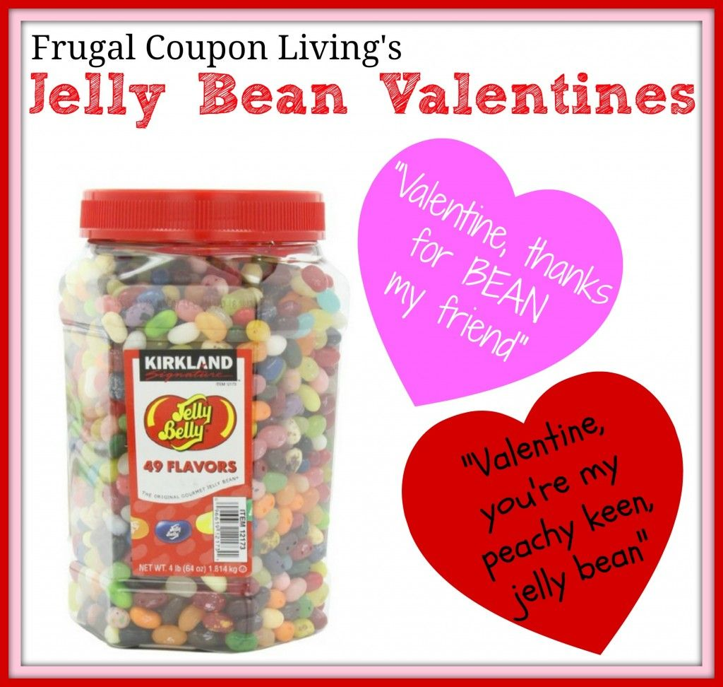 Jelly Bean Valentines  Quotes and Jelly Belly Savings 4 lbs for