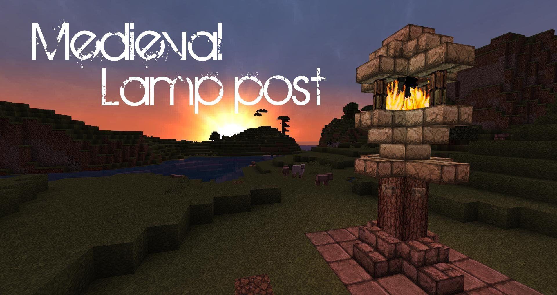 Minecraft Medieval Lamp Post Tutorial Minecraft Medieval Lamp Post Minecraft