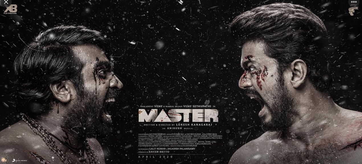 Master Movie Third Look In 2020 Motion Poster Best Photo Background Movie Posters