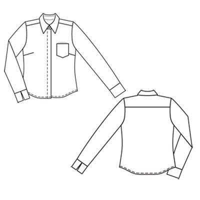 Burda 04/2011 - Le chemisier de coupe classique masculine est un bon basique, son bas est de forme liquette.
