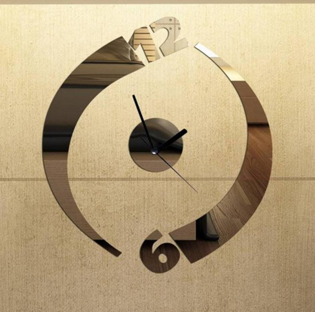 ALVA DIY Mirror rotate design Wall Sticker Clock Decoration home ...