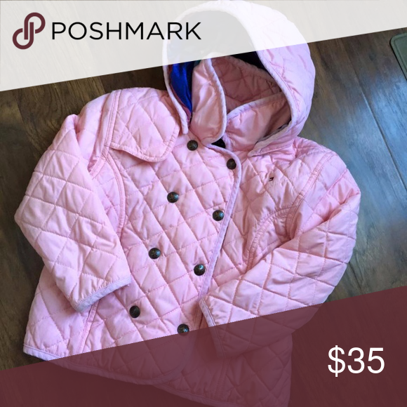 8e1c8c61 Tommy Hilfiger 4T Girls Pink Quilted Coat Jacket Tommy Hilfiger 4T GUC for  normal wear Removable