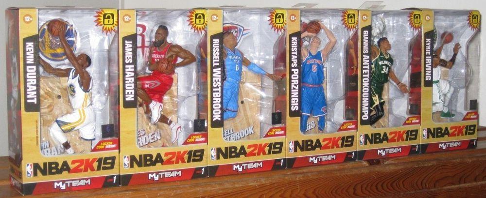 b972b0d6453b Set of 6 McFarlane NBA 2K19 Series 1 Giannis Antetokounmpo