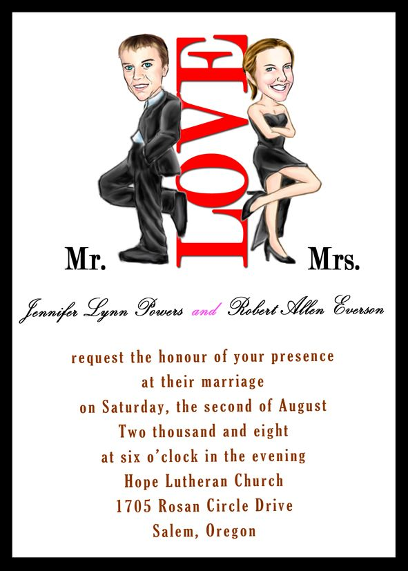 unique handmade Mr and Mrs Smith theme wedding invitation sets ...