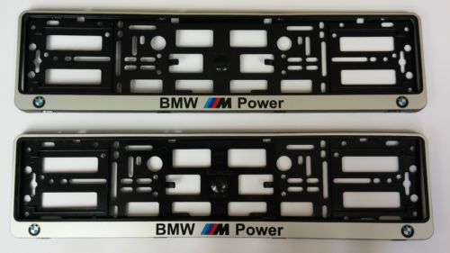 NEW SILVER BMW Number Plate Surrounds Holder Frame. · Easy number plate removal (no tools needed). · Built in springs reduce plate vibrations and noise.  sc 1 st  Pinterest & 2x-BMW-M-Power-Silver-Number-Plate-Surrounds-Holder-Frame-Pair-For ...