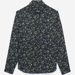 Photo of The Kooples – Floral print midnight blue loose fit shirt – Damen