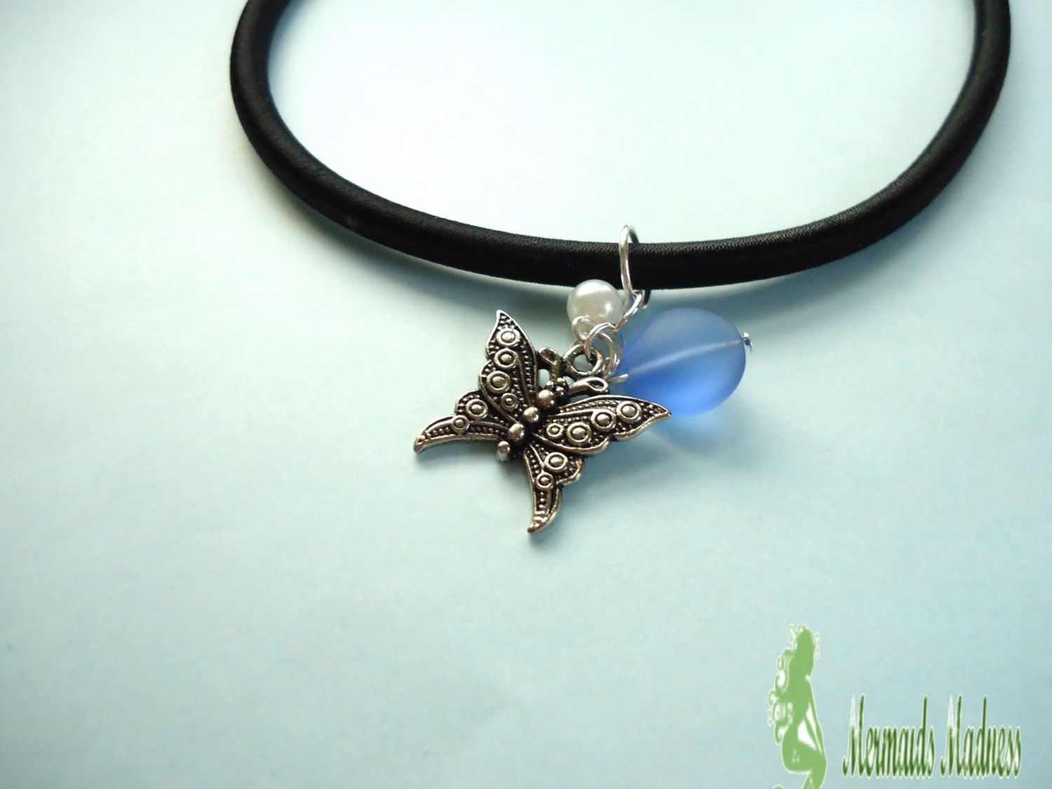 Butterfly Charm Necklace  Gift for a little girl.  JUST $12.00! by MermaidsMadness on Etsy