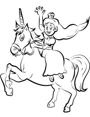 Ausmalbild Einhorn Und Prinzessin Zum Kostenlosen Ausdrucken Und Ausmalen Fur Kinder Ausmalbilder Malvorla Unicorn Coloring Pages Coloring Pages Unicorn