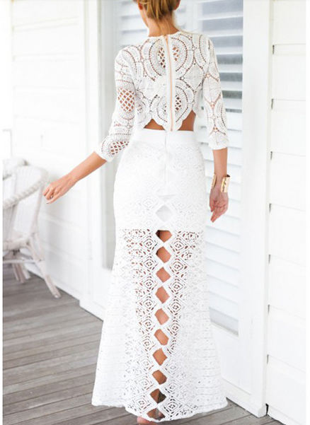ca2926ce747 Sexy Lace Crochet Crop Blouse | Daisy Dress for Less | Women's Dresses &…  Πλεκτά