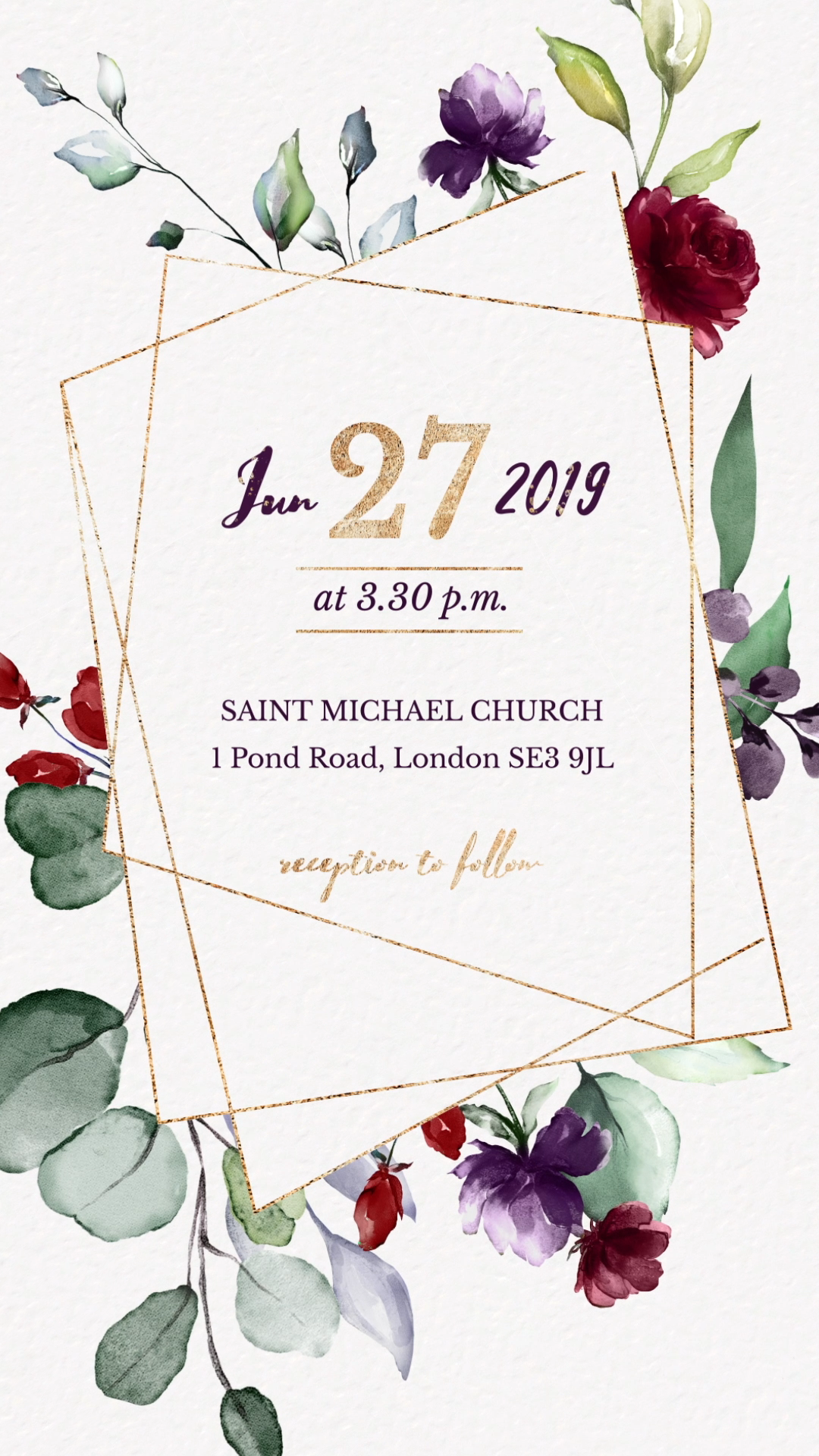 Burgundy Wedding Invitation Video Burgundy Floral Electronic Save The Dat In 2020 Wedding Invitation Video Electronic Wedding Invitations Burgundy Wedding Invitations