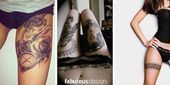Photo of #Female #tattoos #thigh #upper 21 Upper Thigh Tattoos Female  pinterest – Ð…