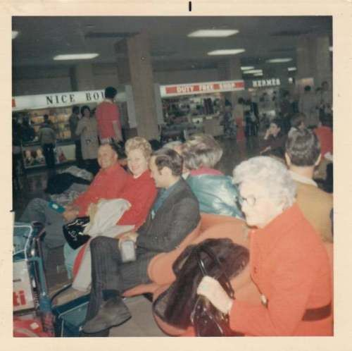 #Color #photo men women waiting in #airport 1960s-70s,  View more on the LINK: http://www.zeppy.io/product/gb/2/391294256290/