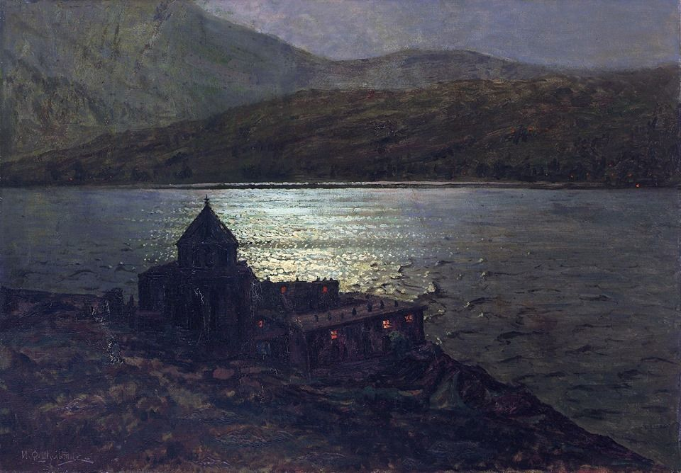 Ivan Fedorovich Choultse (1874-1937)   Sevanavank Monastery on Lake Sevan