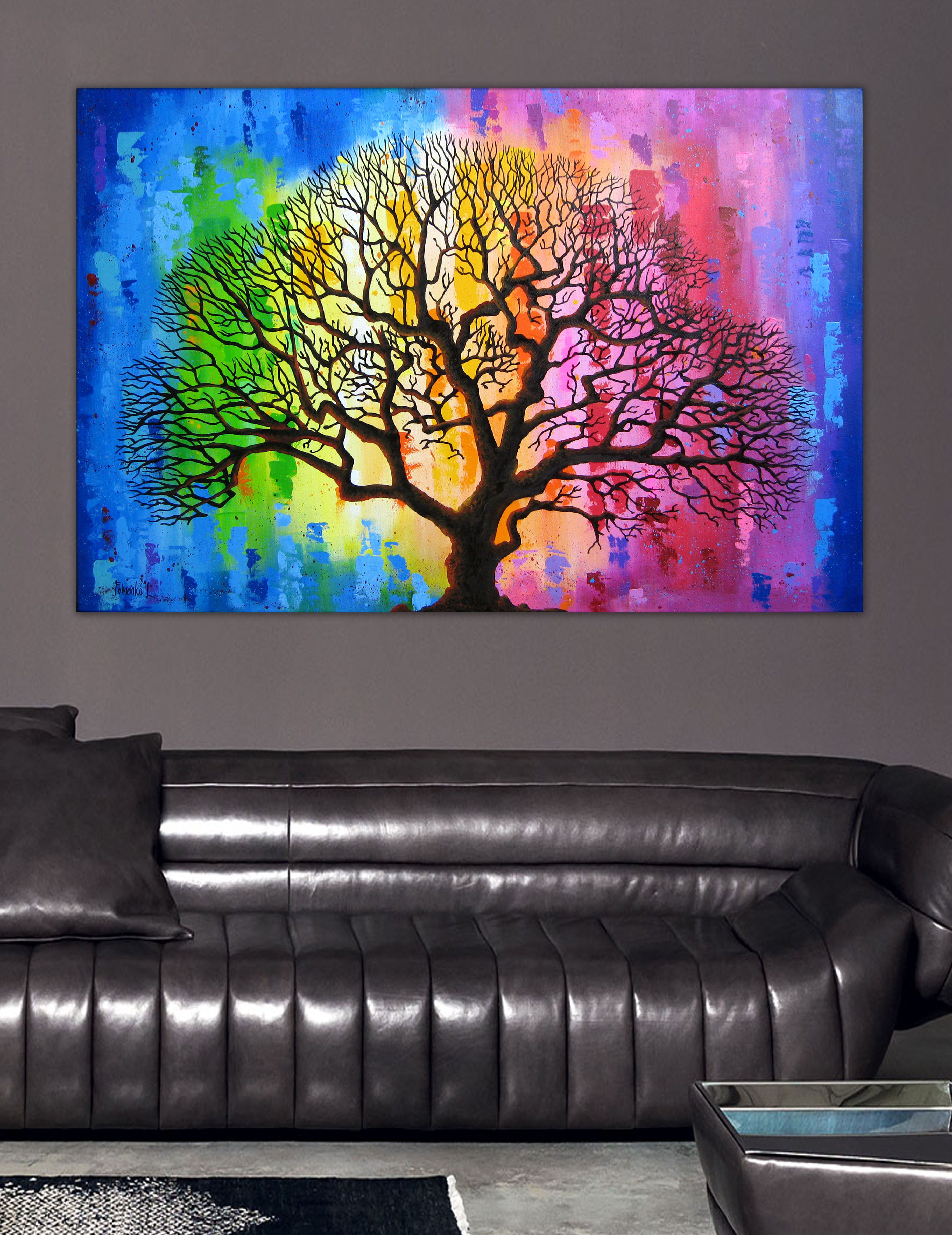 Tree of life canvas art painting on canvas oil painting colorful art abstract painting 35 large canvas art abstract canvas art original painting