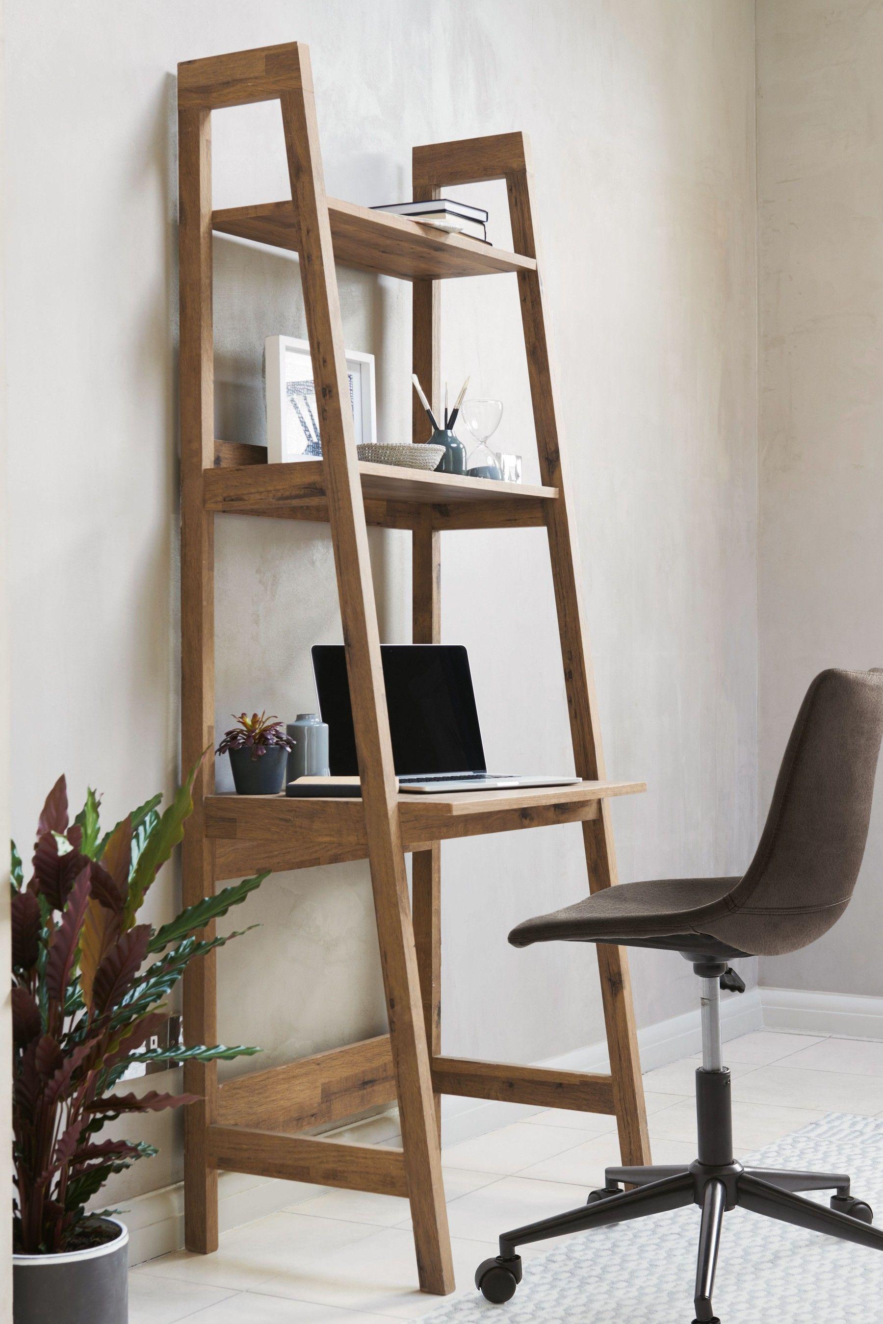 next bronx ladder desk  natural  desk in living room