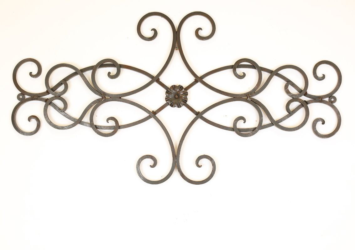 Hearts Scroll Iron Door Topper Wall Decor In 2020 Iron Wall Decor Iron Doors Medallion Wall Decor