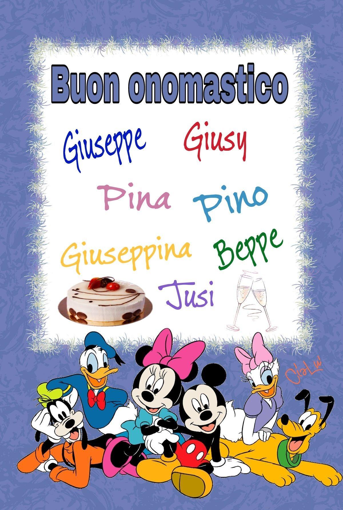 Buon Onomastico Giuseppe Pina Pino Buon Onomastico