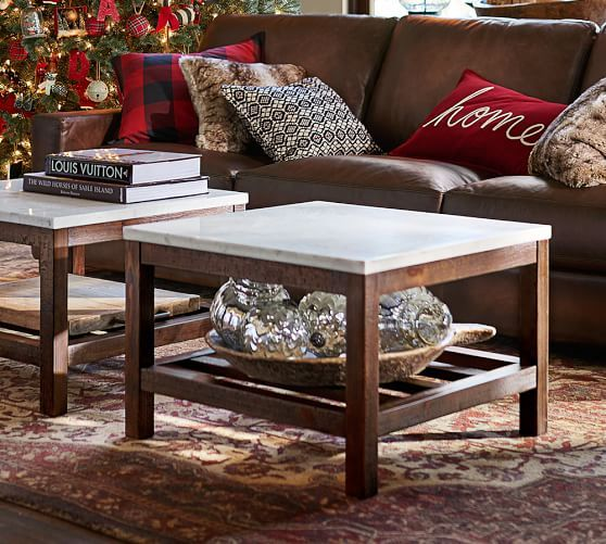 Connor Coffee Table Marble Pottery Barn Coffee Table Brown
