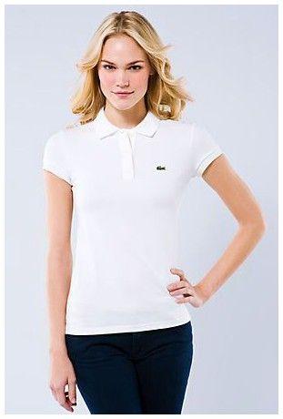 Vente de Polo Lacoste Femmes revers court T Shirt blanc paris pas cher b79ae95d5c4