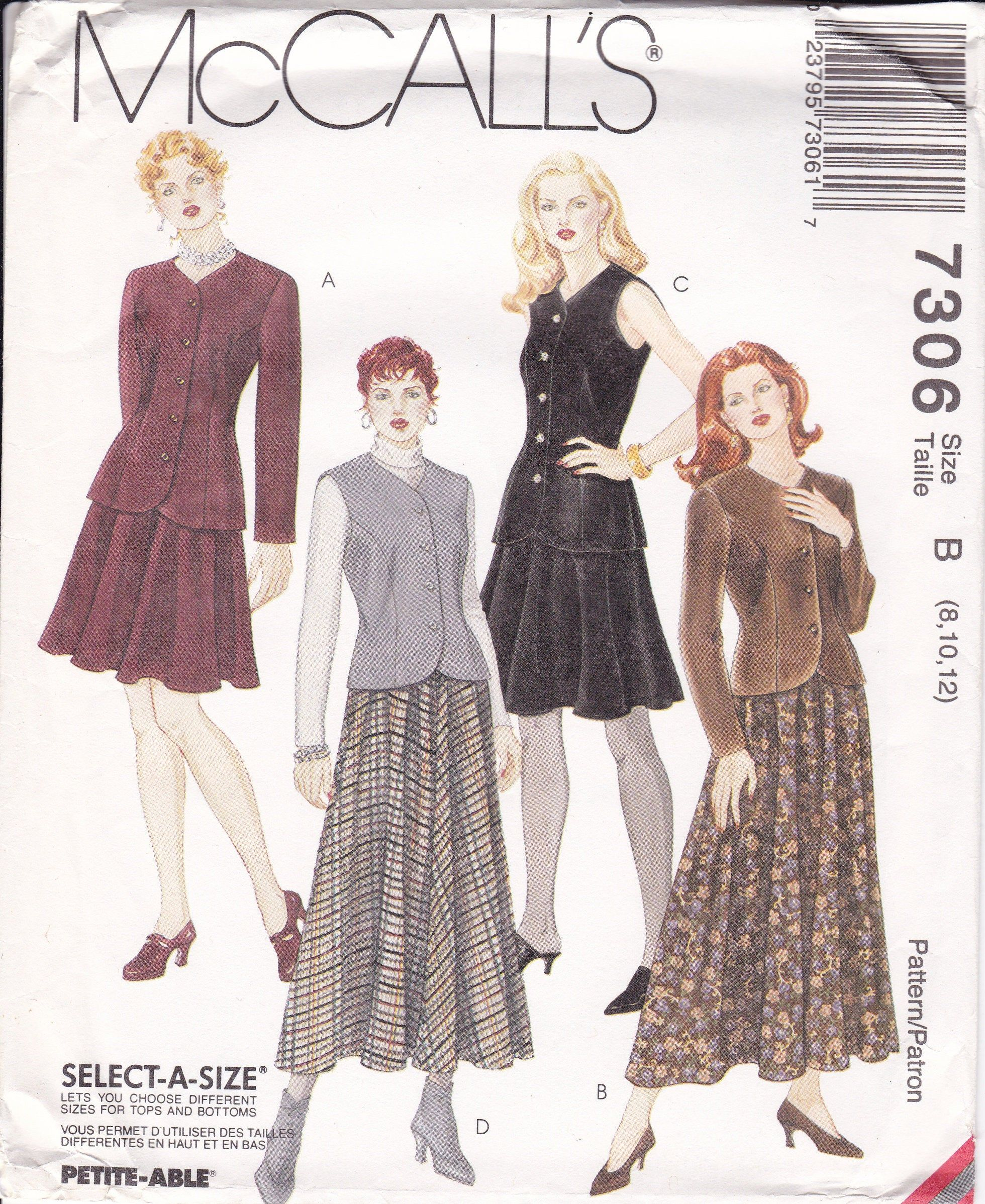 McCall/'s 7707 Misses/' Bias Skirt in Three Lengths   Sewing Pattern