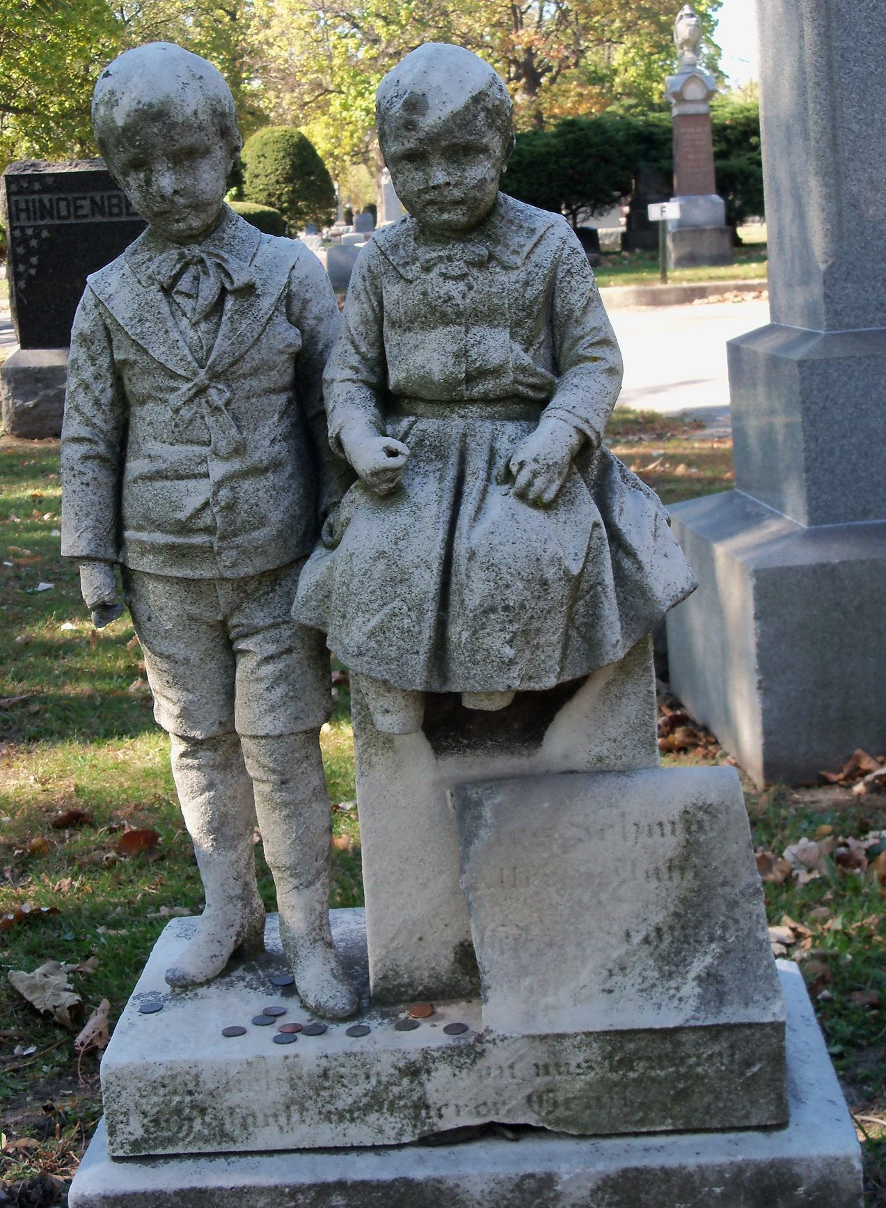 marker children at the forest home cemetery chicago illinois
