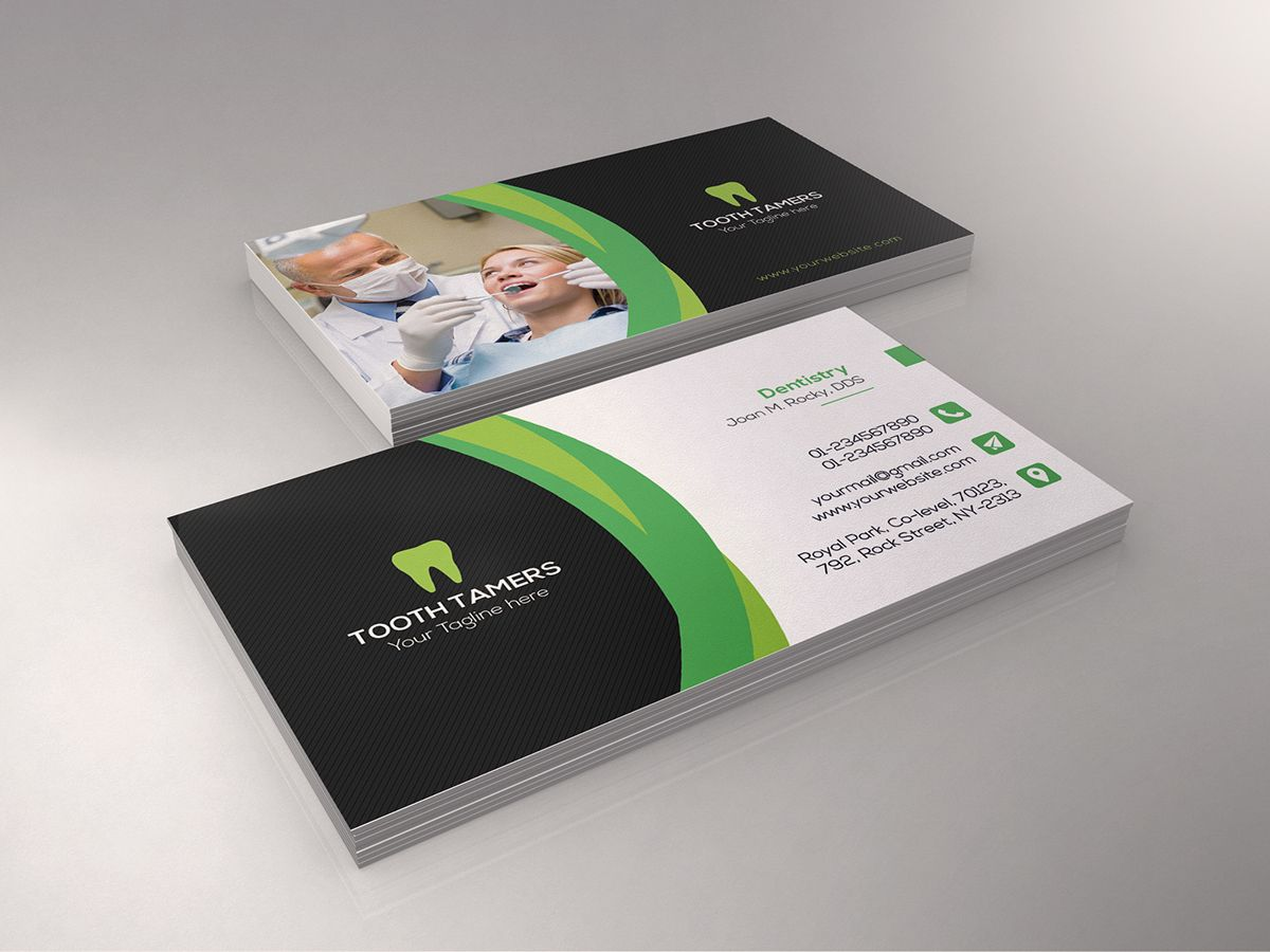 Dental Business Card On Behance Dental Business Cards Dental Business Dental