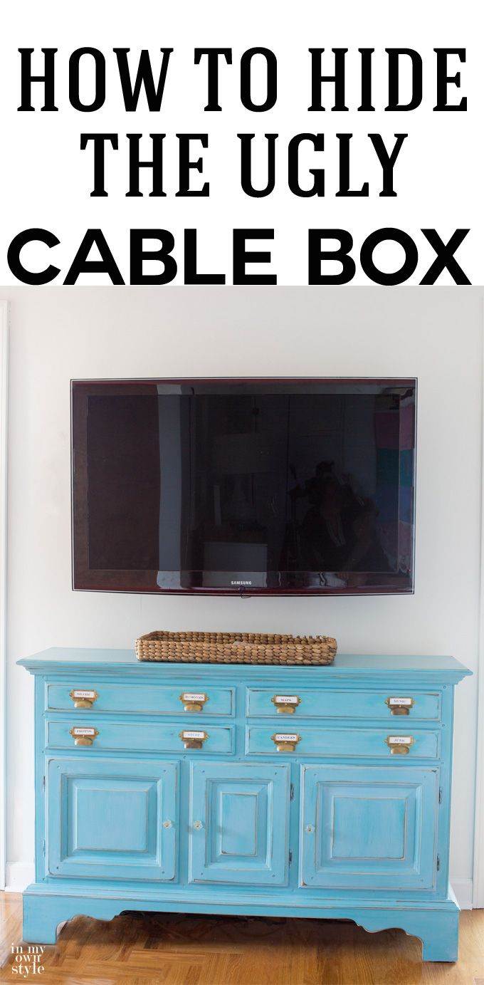 How to hide a cable box and the wires coming from a wall mounted TV ...