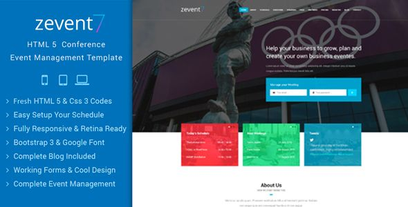 Download Free Zevent - Conference & Event Responsive Html Template ...