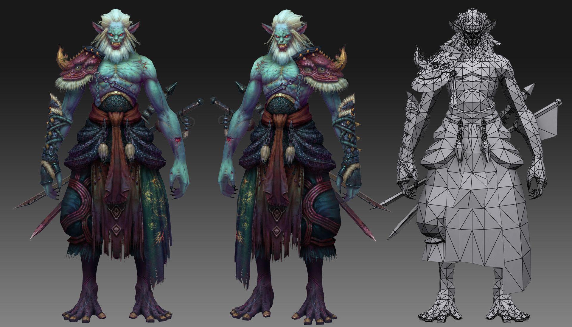 ArtStation 3D GAME MODEL , jie shuai Character art