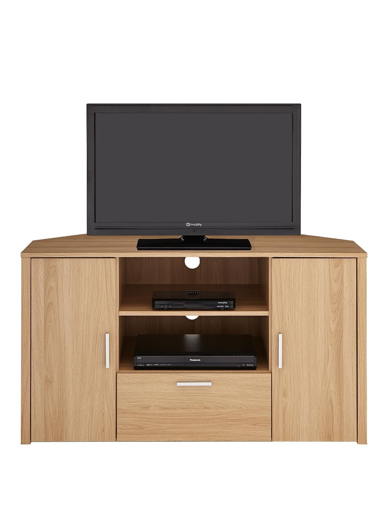 Sanford Tall Corner Tv Unit Fits Up To 50 Inch Tv Tv Cabinet