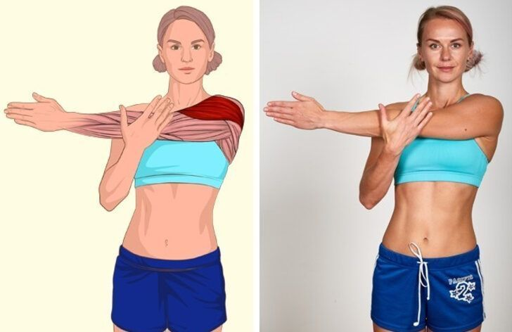 SHOULDER STRETCHING #bauchtraining fitness 17 muscles that will make you feel perfect ... -  SHOULDE...