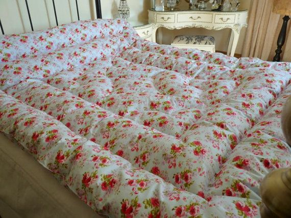 Louisa Kingsize Feather Eiderdown comforter Quilt Vintage Inspired ... : old fashioned quilted eiderdowns - Adamdwight.com
