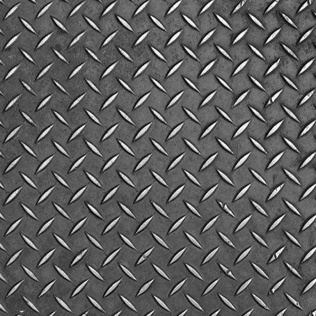 Mild Steel Floor Plates Metal Texture Gabion Wall Diamond Plate
