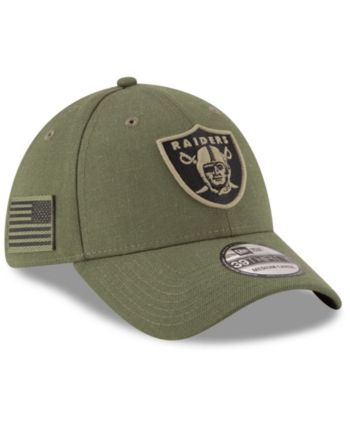 premium selection 0375a 5b855 New Era Oakland Raiders Salute To Service 39THIRTY Cap - Green L XL